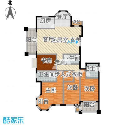 东方名城CC户型4室3卫1厨