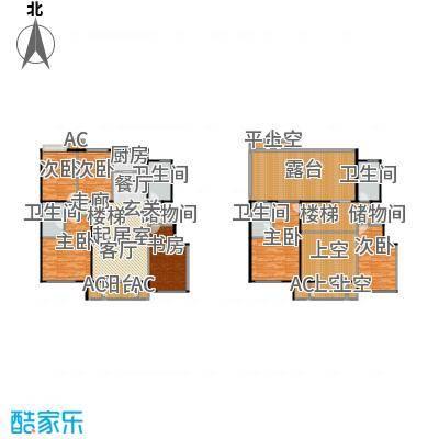鼎盛新城H户型六室两厅四卫户型6室2厅4卫