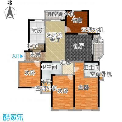 名豪天台苑157.00㎡4A户型,建筑面积约157㎡户型3室2厅2卫