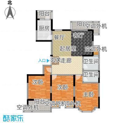 名豪天台苑140.00㎡3E户型,建筑面积约140㎡户型3室2厅2卫
