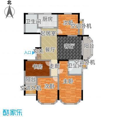 名豪天台苑137.00㎡4D户型,建筑面积约137㎡户型4室2厅2卫