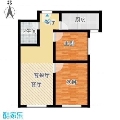 朝阳公馆70.78㎡B户型 2室2厅1卫70.78㎡户型2室2厅1卫