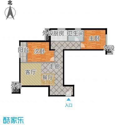 嘉美广场103.00㎡嘉美广场5#楼B5户型2室2厅1卫