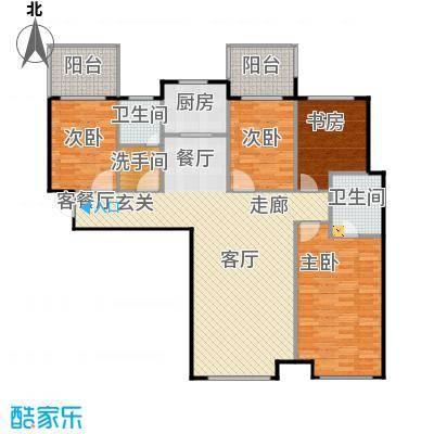 林凯城A2四室两厅两卫134㎡户型4室2厅2卫
