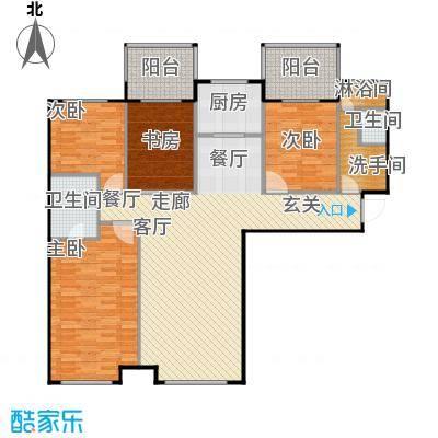 林凯城A1四室两厅两卫139㎡户型4室2厅2卫
