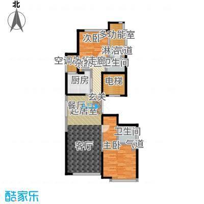 绿城南湖春晓115.00㎡B1两室两厅两卫115平米户型2室2厅2卫