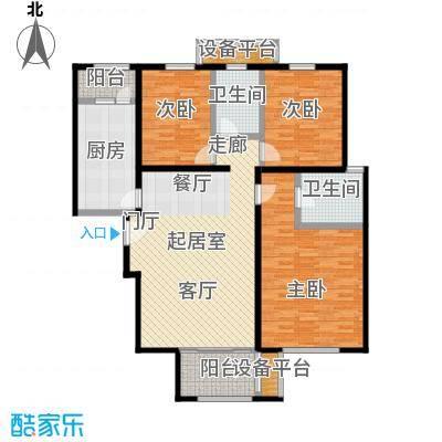 依水现代城128.94㎡12号楼C户型 3室2厅2卫 128.94平户型3室2厅2卫