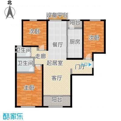 依水现代城146.69㎡12号楼D户型 3室2厅2卫 146.69平户型3室2厅2卫