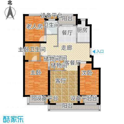 国盛南域枫景133.74㎡C4户型 133.74㎡-136.17㎡户型3室2厅2卫
