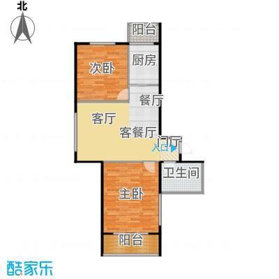 成城蓉桥壹号81.73㎡C6户型图 2室1厅1卫户型2室1厅1卫