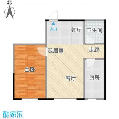 成城蓉桥壹号58.80㎡C5户型图 1室1厅1卫户型1室1厅1卫