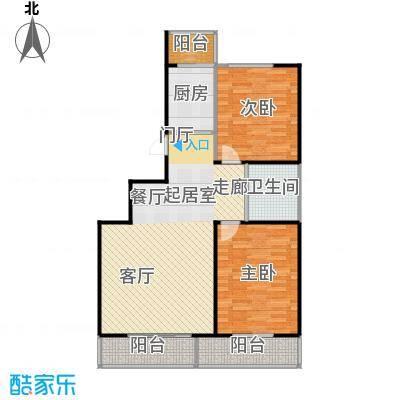 成城蓉桥壹号93.23㎡C3户型图 2室1厅1卫户型2室1厅1卫