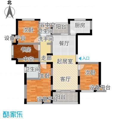新力帝泊湾122.00㎡D户型4室2厅2卫