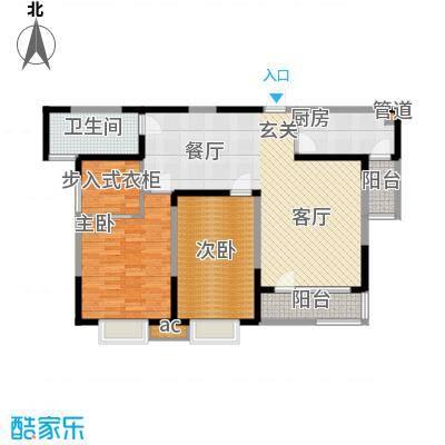 彩凤山城观邸103.00㎡B户型3室2厅1卫