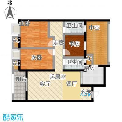 南通华润中心119.00㎡三房两厅两万户型3室2厅2卫-T