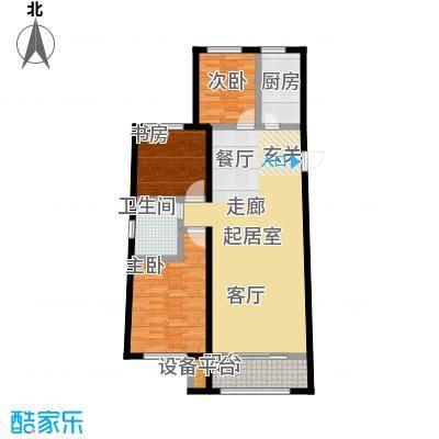 中红一品114.00㎡B户型3室2厅1卫