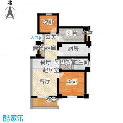 学府华园89.51㎡悦景华庭户型3室2厅1卫-T