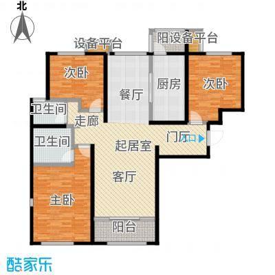 依水现代城139.98㎡8号楼F3户型 3室2厅2卫 139.98平户型3室2厅2卫