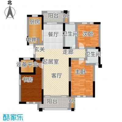 中港城世家141.00㎡B2户型3室2厅2卫户型-T