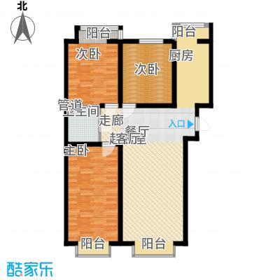 盛唐府邸E13室2厅1卫1厨118.00㎡户型