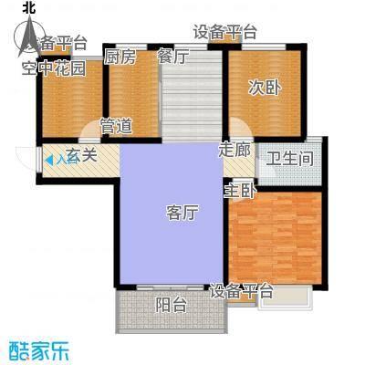 仕方国际106.68㎡仕方国际D户型三室两厅106.68㎡户型2室2厅1卫