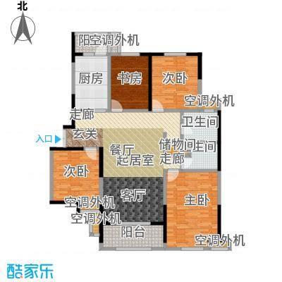 名豪天台苑155.00㎡4B户型,建筑面积约155㎡户型3室2厅1卫