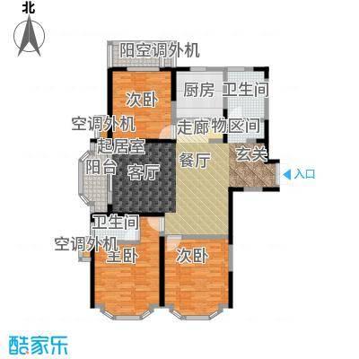 名豪天台苑133.00㎡3C户型,建筑面积约133㎡户型3室2厅2卫
