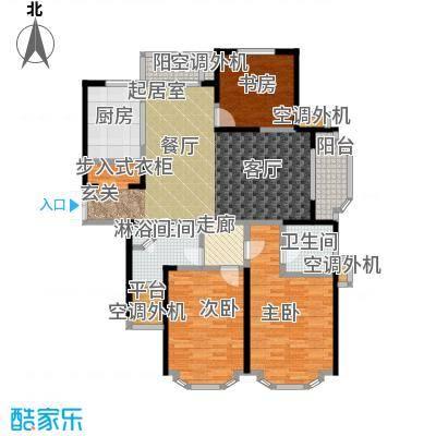 名豪天台苑140.00㎡3A户型,建筑面积约140㎡户型3室2厅1卫