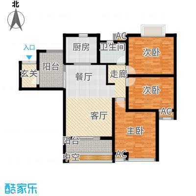 上城户型3室1厅1卫1厨