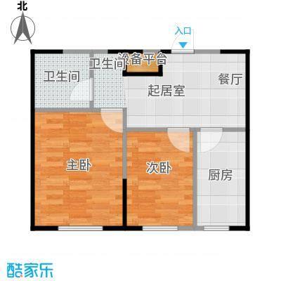 成城蓉桥壹号49.00㎡A1户型图 2室1厅1卫户型2室2厅1卫