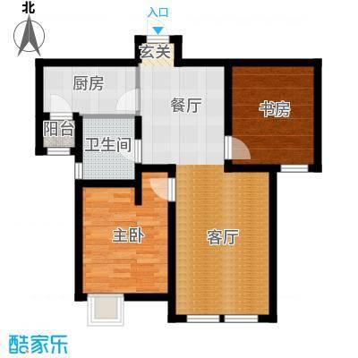 金泰丽湾嘉园90.88㎡5、7、8、10、11、13、14、15号楼B户型二室二厅一卫户型2室2厅1卫