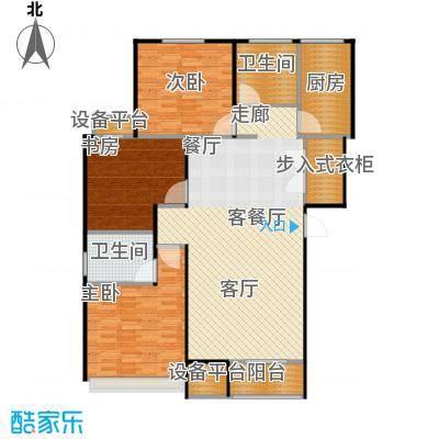 铂悦派125.00㎡B1a户型 3室2厅2卫 125平户型3室2厅1卫