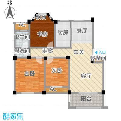 中茵名都建筑面积约104-107㎡户型3室2厅LL