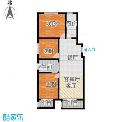 朝阳公馆131.91㎡A户型 3室2厅1卫 131.91㎡户型3室2厅1卫