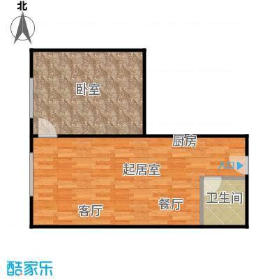 曼哈顿国际51.52㎡公寓C户型1室1厅1卫