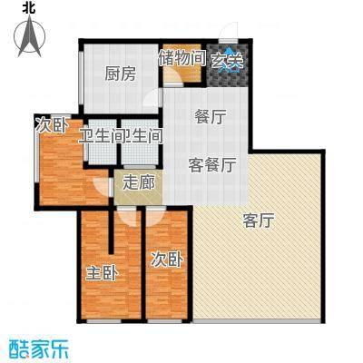 时代广场214.00㎡户型图 3室2厅2卫户型3室2厅2卫