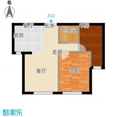 凯利花园72.00㎡凯利花园E户型2室2厅1卫1厨户型2室2厅1卫