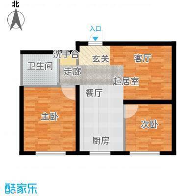 中顺福苑70.15㎡中顺福苑 G户型70.15-72.85㎡ 两室两厅一卫户型2室2厅1卫