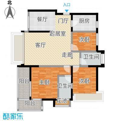海港城103.00㎡4、5、6、7号楼户型3室2厅2卫