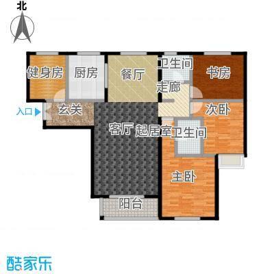 唐山万达广场三室两厅两卫约138平米户型