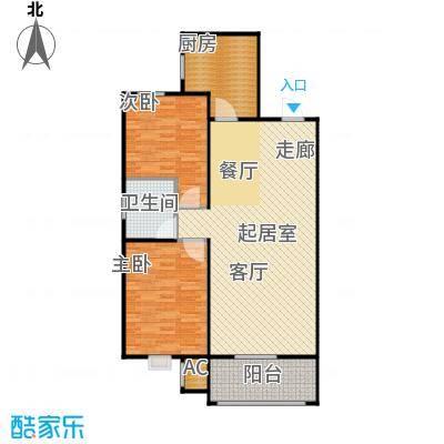 渤海豪庭94.39㎡两室两厅1卫94.39平米户型2室2厅1卫