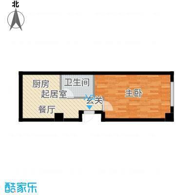 瀚邦凤凰传奇58.75㎡瀚邦凤凰传奇公寓G3户型图QQ