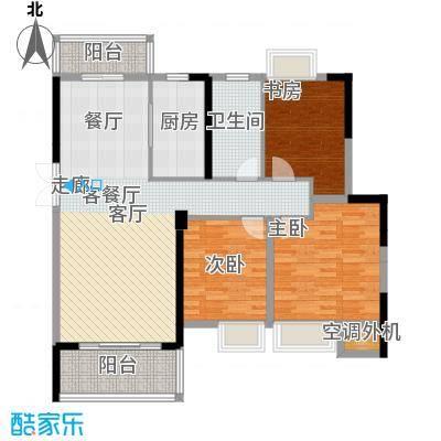 南昌万达城110.00㎡A区住宅B3户型3室2厅1卫