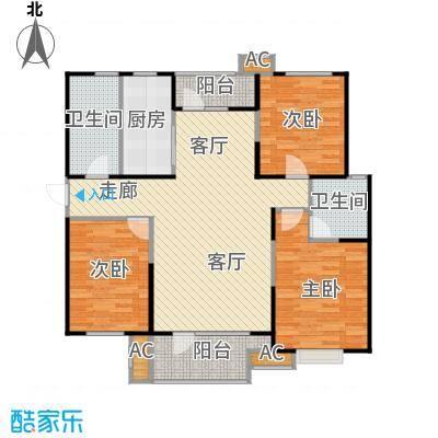 �阳新城两室两厅两卫一厨139.99平米户型