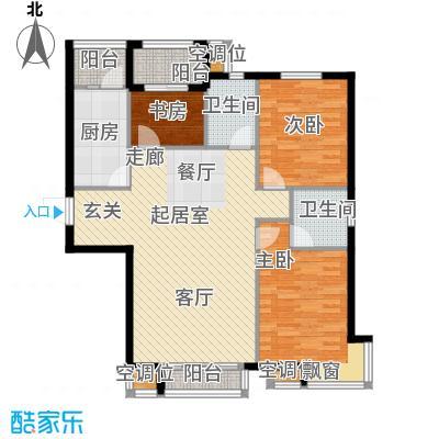 华荣泰时代COSMO120.70㎡1号楼01、06户型 建筑面积120.7㎡户型3室2厅1卫
