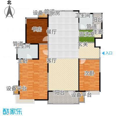 彩凤山城观邸142.00㎡H户型3室2厅2卫