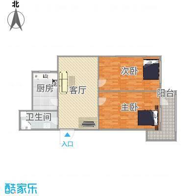 清河小区17-1-401户型图