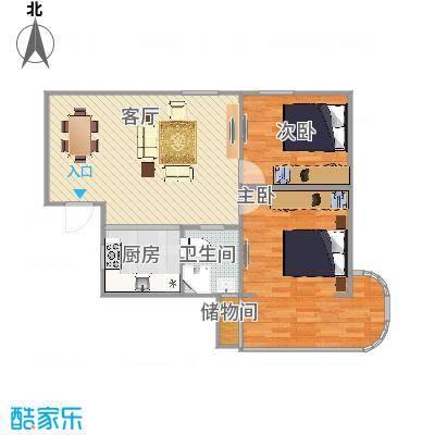 罗阳一村  上海市闵行区罗阳路258弄 101号601室户型图