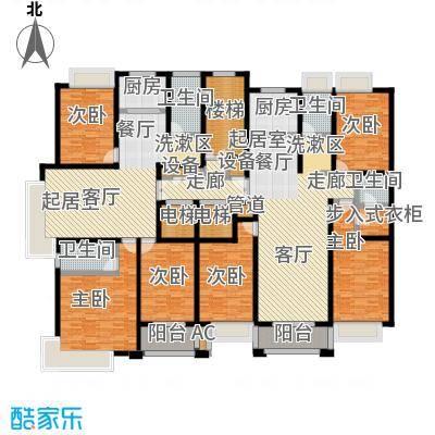 金域华府3室2厅2卫 137-151m²户型3室2厅2卫