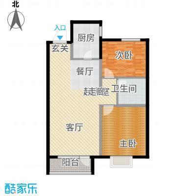 华润中心凯旋门户型2室1卫1厨